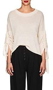 A.L.C. Women's Zora Linen-Blend Drawstring-Sleeve Sweater-Pink