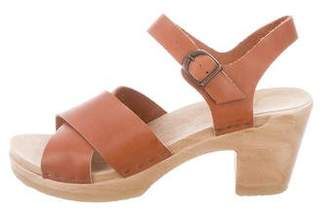 No.6 Leather Round-Toe Sandals