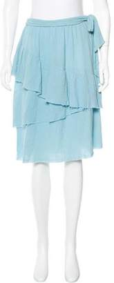 Raquel Allegra Crinkle Tiered Skirt