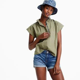 J.Crew Tall collared popover shirt in garment-dyed cotton poplin