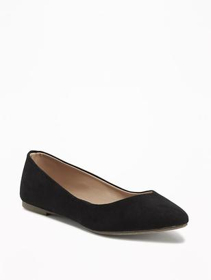 Sueded Pointy Ballet Flats for Women $22.94 thestylecure.com