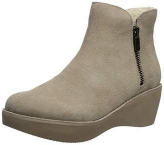 Kenneth Cole Reaction Women's Prime Cozy Platform Bootie with Side Zip Ankle Boot