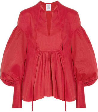 Rosie Assoulin Swash Buckler Oversized Cotton-poplin Top - Red