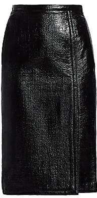 No.21 No. 21 Women's Patent Side Slit Midi Pencil Skirt