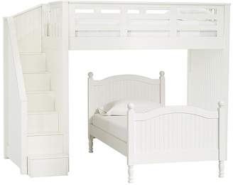 Pottery Barn Kids Catalina Stair Loft Bed & Twin Bed