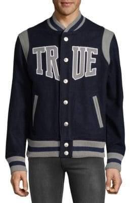 True Religion Snap Varsity Jacket