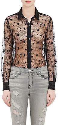 Amiri Women's Sheer Star-Lace Blouse