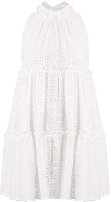 Lisa Marie Fernandez Mini ruffle-trimmed broderie-anglaise cotton dress