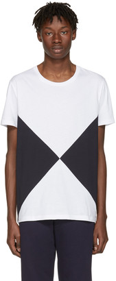 Burberry White Fallow Flag Diamond T-Shirt $225 thestylecure.com