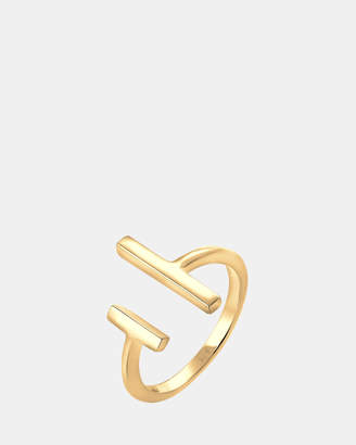 Ring Geo Minimalist 925 Sterling Silver Gold Plated