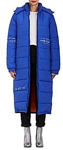 Mira Mikati Women's Embellished Quilted Puffer Coat - Blue, Multi