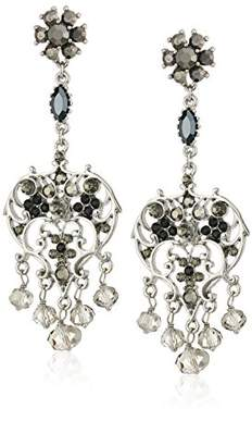 Badgley Mischka Vintage Pearl Chandelier Drop Earrings