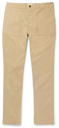 Officine Generale Cotton-twill Trousers - Beige