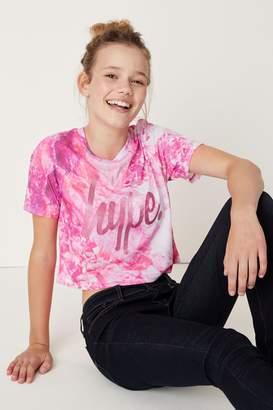 Hype Girls Crystal Crop T-Shirt - Pink