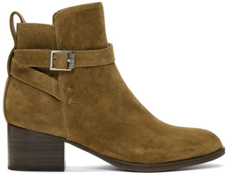 Rag & Bone Brown Suede Walker Buckle Boots