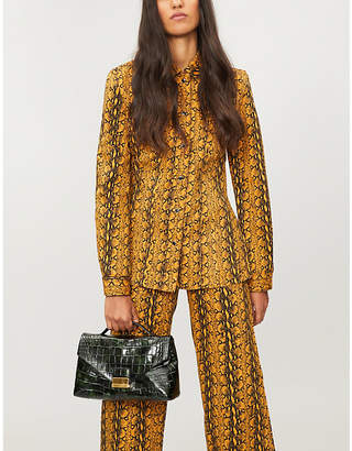 ALEXACHUNG Snakeskin-print fitted jacket