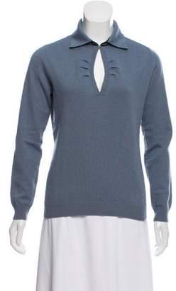 Arabella Rani Cashmere Polo Sweater