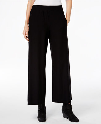 Eileen Fisher Washable Crepe Wide-Leg Ankle Pants, Regular & Petite $168 thestylecure.com