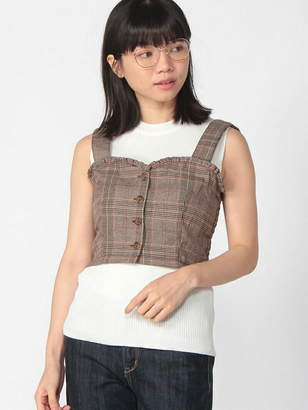 WEGO (ウィゴー) - BROWNY BROWNY/(L)チェックビスチェ ウィゴー カットソー