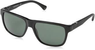 Emporio Armani Men's EA4035-501771-58 Square Sunglasses