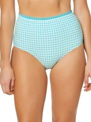 Jessica Simpson Retro High-Waist Swim Bottoms