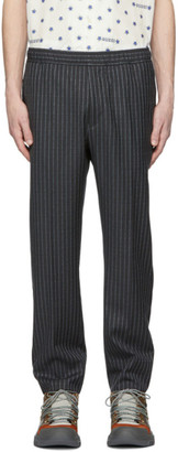 Gucci Grey Pinstripe Logo Trousers