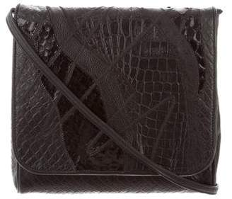 Carlos Falchi Crocodile & Leather Crossbody Bag