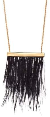 Trina Turk Ostrich Feather Earrings