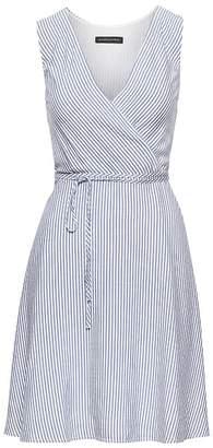 Banana Republic Stripe Wrap Dress
