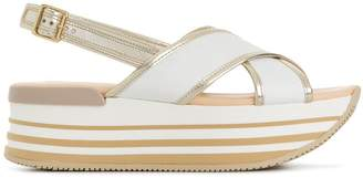 Hogan chunky heel sandals