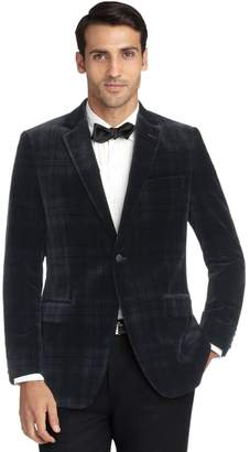 Brooks Brothers Fitzgerald Fit Velvet Blackwatch Tuxedo Jacket