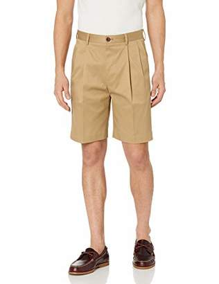 "Buttoned Down Men's Relaxed-Fit Pleated 9"" Inseam Non-Iron Chino Short"