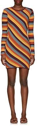 Ronny Kobo WOMEN'S JULES STRIPED COTTON-BLEND DRESS