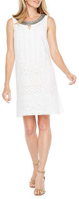 Studio 1 Sleeveless Eyelet A-Line Dress