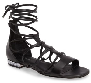 Women's Calvin Klein Elina Lace-Up Sandal $129.95 thestylecure.com