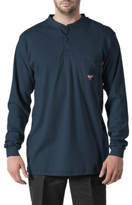 Walls Men's Flame Resistant Long Sleeve Henley, HRC Level 2