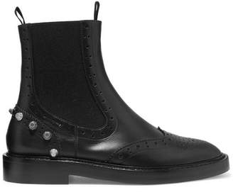 Balenciaga - Studded Leather Ankle Boots - Black $945 thestylecure.com