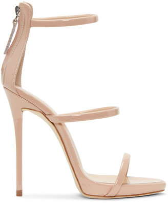 Giuseppe Zanotti Pink Colline Heeled Sandals $845 thestylecure.com