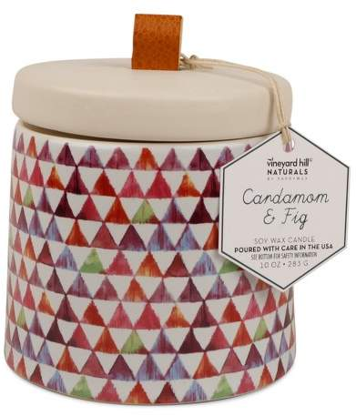 Vineyard Hill Naturals Container Candle Cardamom/Fig 10oz - Vineyard Hill Naturals by Paddywax