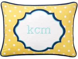 Pottery Barn Teen Mix N Match Dottie Monogram Pillow Cover, 12x16, Yellow