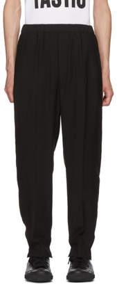 Neil Barrett Black Split Cuff Trousers