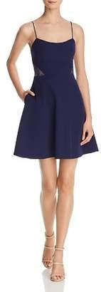 Aidan Mattox Lace-Inset Crepe Dress - 100% Exclusive
