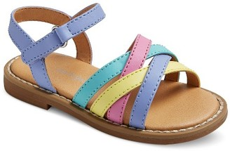 Genuine Kids from OshKosh Toddler Girls' Genuine Kids Slide Sandals - Multi-Colored $19.99 thestylecure.com