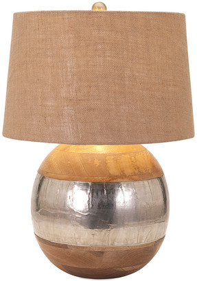 Nessa IMAX 22.5In Wood And Metal Clad Lamp