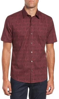 Zachary Prell Rinaldi Regular Fit Pattern Sport Shirt