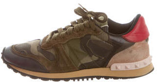 Valentino Camo Rockrunner Sneakers $535 thestylecure.com