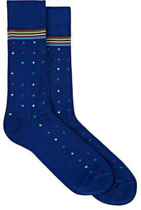 Paul Smith Men's Dot-Print Cotton-Blend Mid-Calf Socks