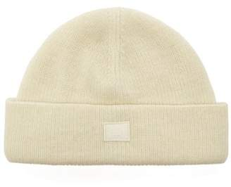 Acne Studios Kansy Face Wool Blend Beanie Hat - Mens - White