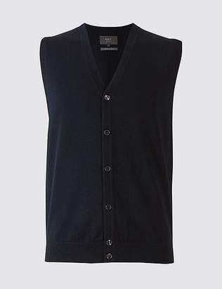 Marks and Spencer Pure Merino Wool Waistcoat