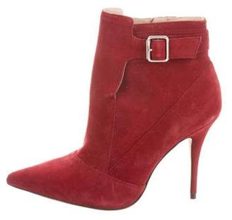 Elizabeth and James Suede Pointed-Toe Ankle Boots